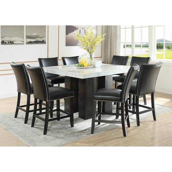 Counter Height Dining Sets On Sale: Shop Gracewood Hollow Mhlanga White Marble Square 9-piece