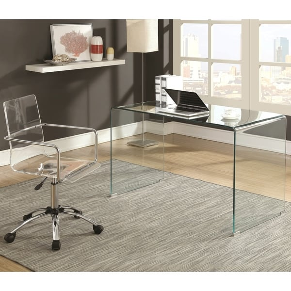 Peachy Shop Modern Design Home Office Glass Desk And Acrylic Chair Alphanode Cool Chair Designs And Ideas Alphanodeonline