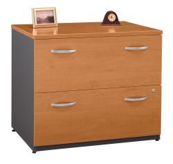 Bush Series C 2-Drawer File Cabinet - Cherry/Graphite Gray