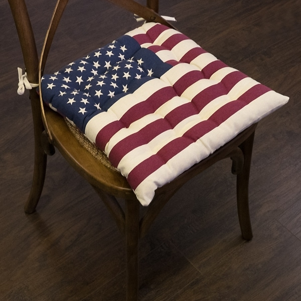 "American Flag Chair Pads(16""x16"") - 16""x16"""