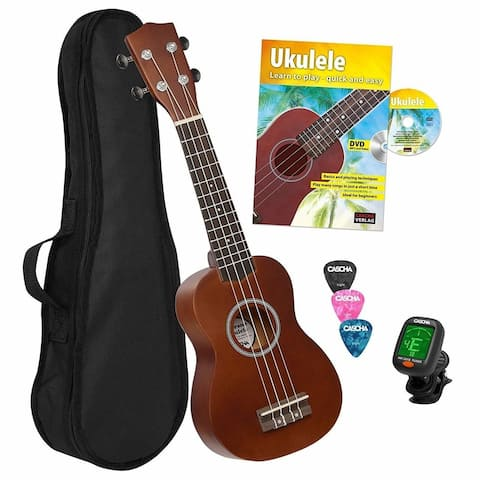 Cascha Soprano Bundle Ukulele Starter Set with DVD