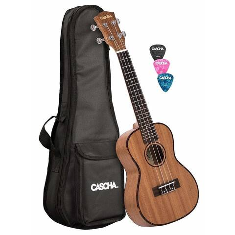 Cascha Premium Mahogany Concert Ukulele with Bag