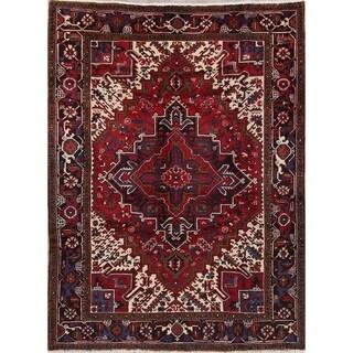 "Heriz Geometric Hand Knotted Wool Persian Area Rug - 8'6"" x 6'6"""