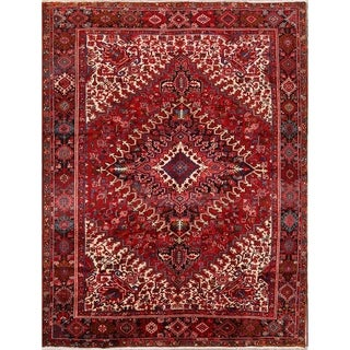 "Heriz Geometric Hand Knotted Wool Persian Area Rug - 11'8"" x 9'0"""
