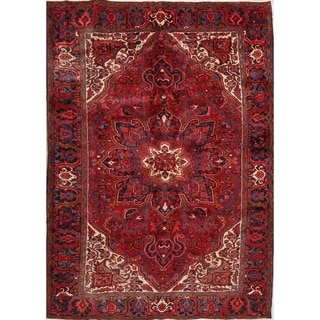 "Heriz Geometric Hand Knotted Wool Persian Area Rug - 10'9"" x 7'9"""