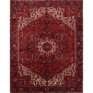 "Heriz Geometric Hand Knotted Wool Persian Area Rug - 12'6"" x 9'10"""