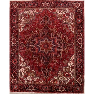 "Heriz Geometric Hand Knotted Wool Persian Area Rug - 12'3"" x 9'10"""
