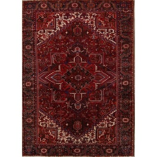 "Heriz Geometric Hand Knotted Wool Persian Area Rug - 13'3"" x 9'7"""