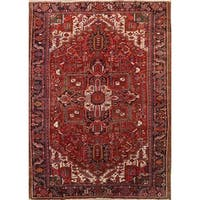 """Antique Heriz Geometric Hand Knotted Wool Persian Area Rug - 11'9"""" x 8'4"""""""