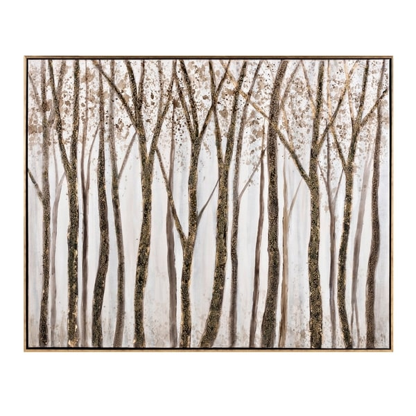 Nature Inspired Canvas Oil Painting in Pinewood Frame, Multicolor