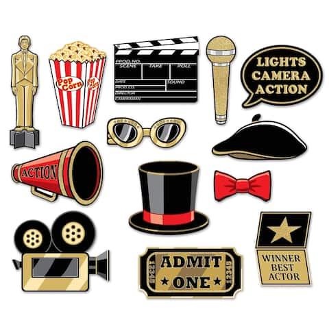 "Beistle 5.5""-11"" Awards Night Glittered Photo Fun Signs - 12 Pack (13/Pkg)"