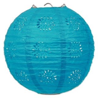 "Link to Beistle 8"" General Occasion Hanging Lace Paper Lanterns, Turquoise - 6 Pack (3/Pkg) Similar Items in Accent Pieces"