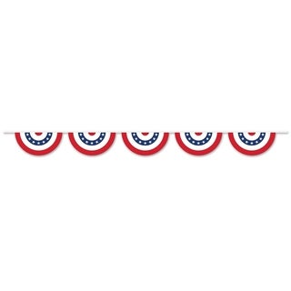 """Link to Beistle 11"""" x 12' All Weather Patriotic Bunting Pennant Banner - 6 Pack (1/Pkg) Similar Items in Decorative Accessories"""