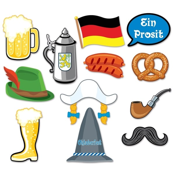 "Beistle 6.5""-10"" Oktoberfest Party Decorative Photo Fun Signs - 12 Pack (12/Pkg)"