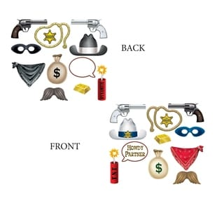 """Beistle 4.25""""-11.5"""" Western Theme Party Photo Fun Signs - 12 Pack (12/Pkg)"""