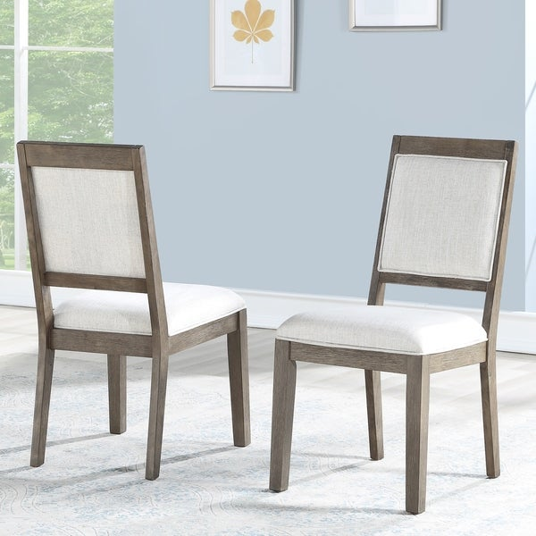 The Gray Barn Morgause Upholstered Dining Chairs (Set of 2) (As Is Item). Opens flyout.
