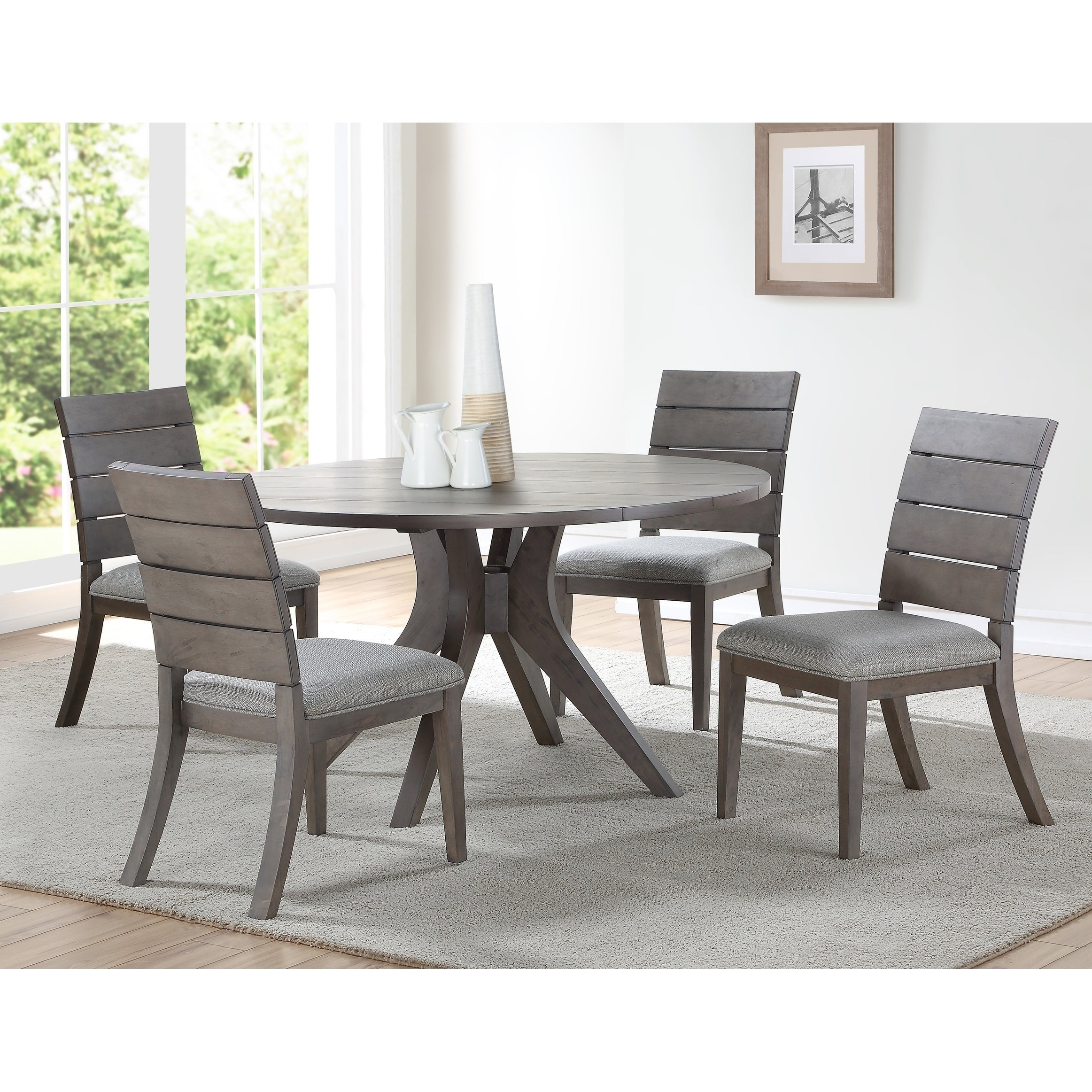 Picture of: The Gray Barn Abernathy Modern Round Dining Set Overstock 27031465