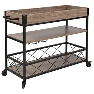Metal/Wood Kitchen Bar Cart