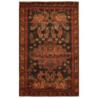 Handmade Herat Oriental Afghan Hand-knotted Tribal Balouchi Wool Rug (2'9 x 4'5) - 2'9 x 4'5