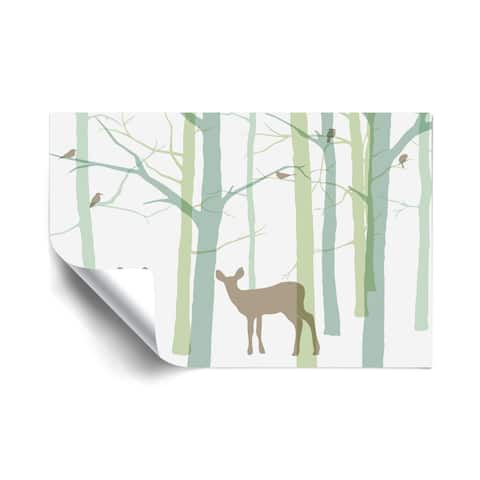 Forest Friends IV Removable Wall Art Mural