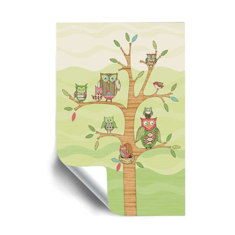 Owl Removable Wall Art Mural
