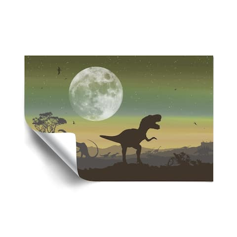 Age of Dinosaurs Sage Removable Wall Art Mural