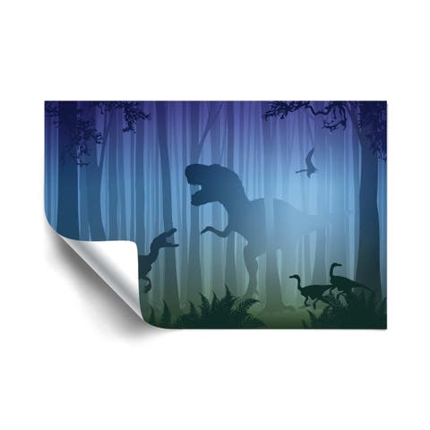 T-Rex In The Woods Removable Wall Art Mural