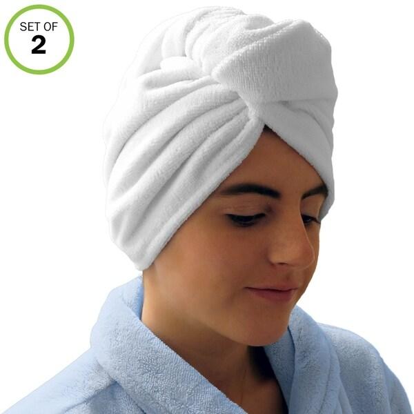 Microfiber Hair Towel Reviews: Shop Evelots Microfiber Absorbent Hair Drying Towel Wraps
