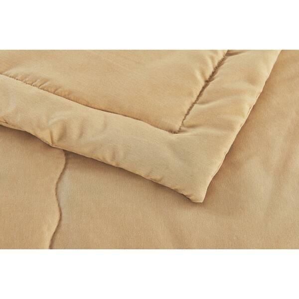 Reversible Down Alternative Sherpa//Microfiber Ivory Full//Queen Blanket