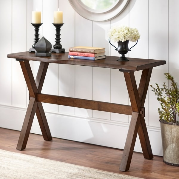 Simple Living Mandeville Live Edge Sofa Table