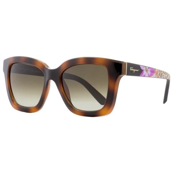 4e52146abf986 Shop Salvatore Ferragamo SF858S 214 Womens Tortoise 53 mm Sunglasses - Free  Shipping Today - Overstock - 27031814