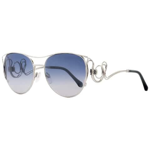 Roberto Cavalli RC1026 Carmignano 18X Womens Rhodium/Blue 61 mm Sunglasses