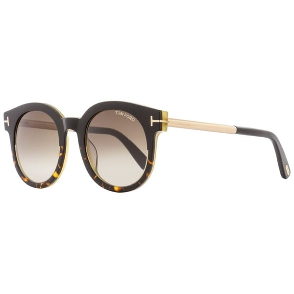 9b8ddd27e3200 Shop Tom Ford TF435 Janina 01K Womens Havana Black Gold 51 mm Sunglasses -  Free Shipping Today - Overstock - 27031825