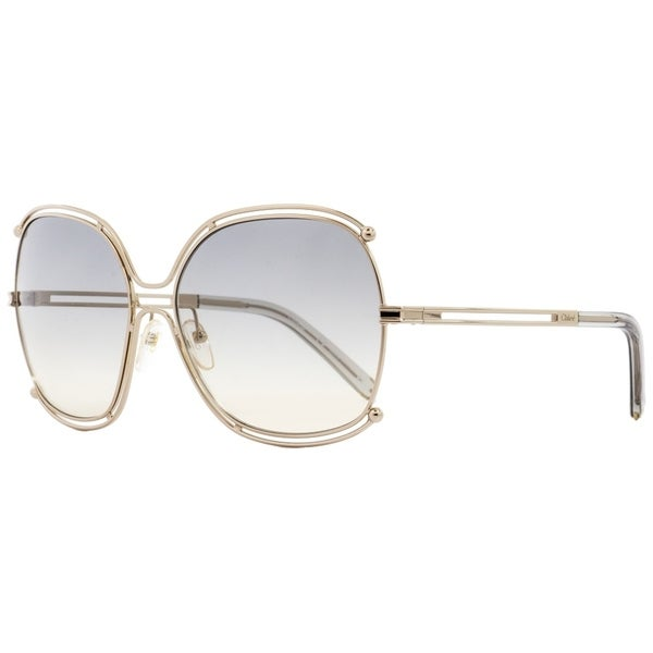 056eb1898f5f Shop Chloe CE129S Isidora 734 Womens Gold Gray 59 mm Sunglasses - Free  Shipping Today - Overstock - 27031852