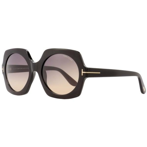 bece2a81e8489 Shop Tom Ford TF535 Sofia 01B Womens Black/Gold 57 mm Sunglasses - Free  Shipping Today - Overstock - 27031867