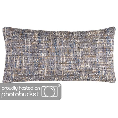 "Rizzy Home Cover Blue Pillow - 14"" x 26"""