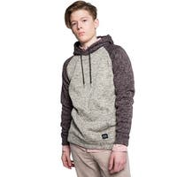 Mens Sweater Knit Two Tone Pullover Hoodie