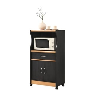 Hodedah Microwave Kitchen Cart