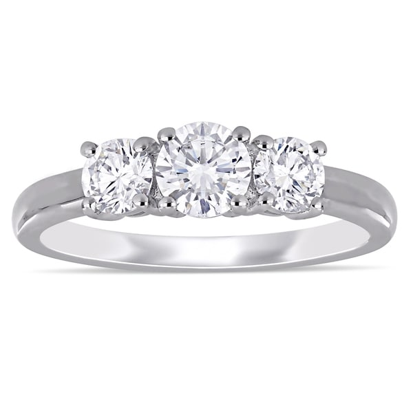 8b89886d9fa14 Shop Eternally Yours™ 1ct TW Lab Grown Diamond 3-Stone Engagement ...