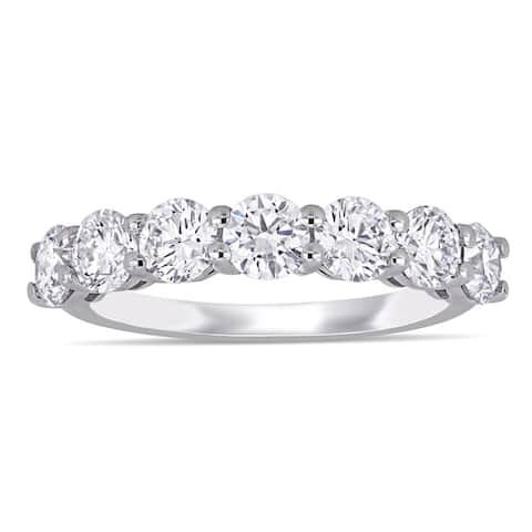 Eternally Yours 1 3/4ct TW Lab Grown Diamond Semi-Eternity Anniversary Band 14k White Gold