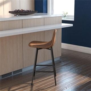 Avenue Greene Ciara Upholstered Metal Counter Stool