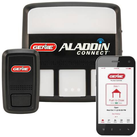 Aladdin Connect WiFi Garage Door Controller by Genie - Retrofit Add-on Unit for Existing Garage Door Opener / Fits Most Brands
