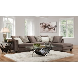 SofaTrendz Dalton Brown Sectional
