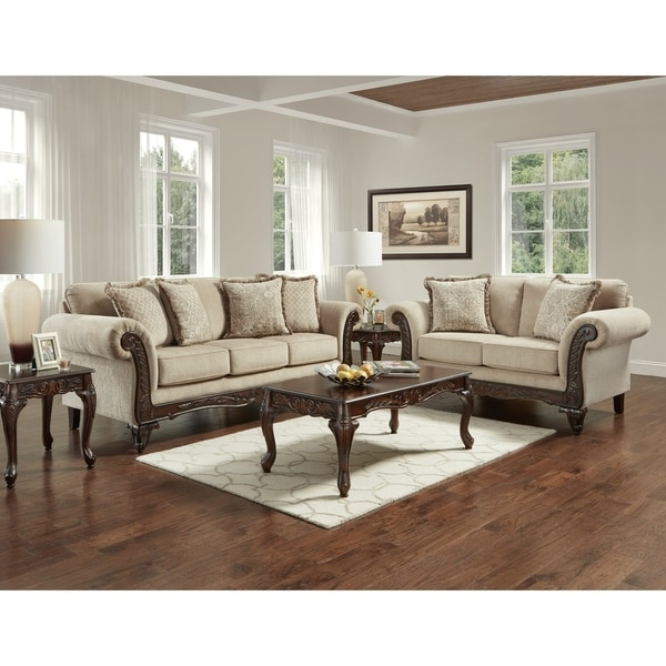 Shop Sofatrendz Carrington Wheat Sofa And Loveseat 2 Pc