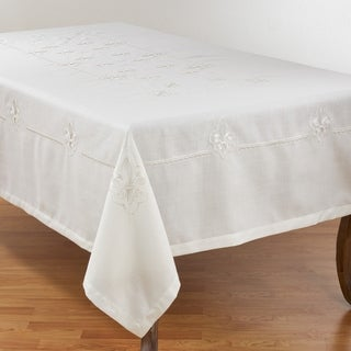 Link to Elegant Tablecloth with Embroidered Fleur-de-Lis Design Similar Items in Table Linens & Decor