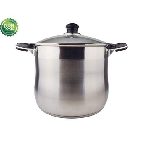 20 Quart Commercial Grade Stainless Steel High Stockpot/Non-Toxic Cookware/Dishwasher Safe