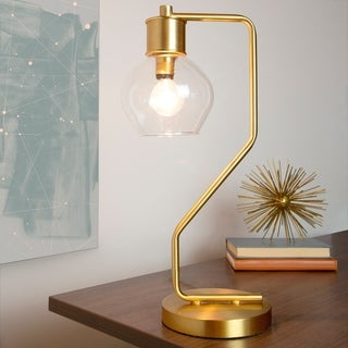 Link to Carson Carrington Linkoping Gold & Glass 1-light Table Lamp Similar Items in Table Lamps