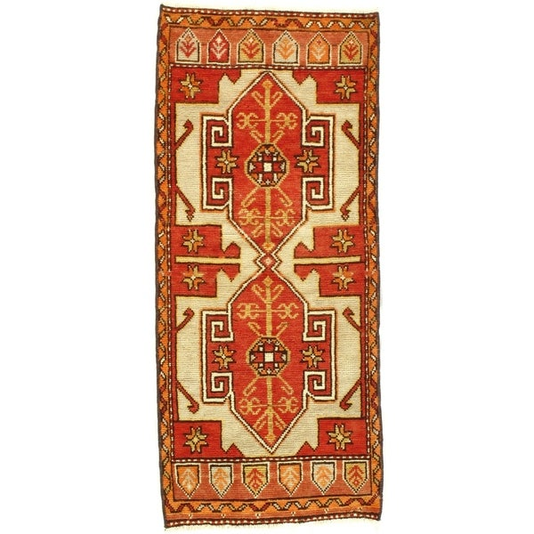 Pasargad DC Early 20th Century Antique Turkish Oushak - 1′8″ × 3′8″