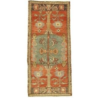 Pasargad DC Early 20th Century Antique Turkish Oushak - 1′10″ × 3′10″