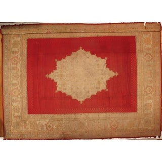 """Pasargad DC Antique Turkish Oushak Hand-Knotted Rug - 12'6"""" X 16'"""